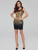 cheap Party Dresses-Sheath / Column Jewel Neck Short / Mini Sequined Open Back Cocktail Party Dress with Sequin by TS Couture®