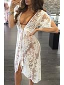 זול ביקיני-לבן M L XL אחיד, בגדי ים כיסוי לבן שחור בגדי ריקוד נשים