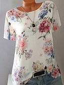 halpa T-paita-Naisten Ohut Geometrinen Pluskoko - T-paita Purppura