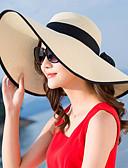 halpa Naisten hatut-Naisten Aktiivinen Perus söpö tyyli Olkihattu Aurinkohattu-Color Block Olki Kesä Syksy Punastuvan vaaleanpunainen Beesi Purppura