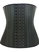 זול מחוכים ובוסטייה-בגדי ריקוד נשים קרס מחוך מתחת לחזה - אחיד, בסיסי כותנה שחור XXXXL XXXXXL XXXXXXL