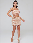 cheap Prom Dresses-Two Piece Strapless Short / Mini Sequined Cocktail Party Dress with Sequin by TS Couture®