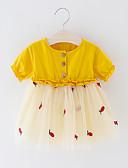זול אוברולים טריים לתינוקות לבנים-שמלה מעל הברך שרוולים קצרים טלאים טלאים / פירות פעיל / בסיסי בנים תִינוֹק / פעוטות