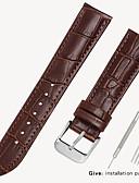 זול להקות Smartwatch-עור אמיתי / עור / Calf Hair צפו בנד רצועה ל שחור / חום 17cm / 6.69 אינץ ' / 18cm / 7 אינצ'ים / 19cm / 7.48 אינצ'ים 1.2cm / 0.47 אינצ'ים / 1.4cm / 0.55 אינצ'ים / 1.6cm / 0.6 אינצ'ים