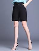 halpa Shortsit-Naisten Perus Pluskoko Chinos housut Housut - Yhtenäinen Musta XXL XXXL XXXXL