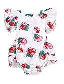 cheap Kids' Headpieces-Baby Girls' Active Floral Sequins / Print Sleeveless Cotton Bodysuit White / Toddler