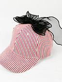 זול שמלות לבנות-מידה אחת פול / שחור / אודם כובעים ומצחיות כותנה פפיון פסים פעיל / בסיסי / מתוק בנות ילדים / פעוטות