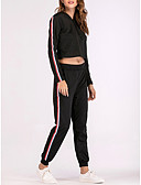 cheap Corsets & Bustiers-Women's Hoodie - Striped Pant