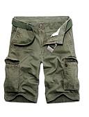 levne Pánské kalhoty a kraťasy-Pánské Základní Kalhoty chinos Kalhoty - Jednobarevné Světle modrá Armádní zelená Khaki 34 36 38