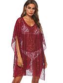 رخيصةأون ملابس السباحة والبيكيني للنساء-نبيذ حجم واحد لون سادة, ملابس السباحة تغطية الجسم نبيذ نسائي