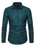זול חולצות לגברים-מנוקד מידות גדולות חולצה - בגדי ריקוד גברים לבן