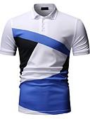 preiswerte Herren Polo Shirts-Herrn Einfarbig Polo, Hemdkragen Weiß XL