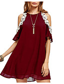povoljno Ženske haljine-Žene A kroj Haljina Color block Iznad koljena