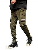 abordables Camisas de Hombre-Hombre Básico Delgado Pantalones Harén Pantalones - Un Color Algodón Negro Verde Ejército XXL XXXL XXXXL