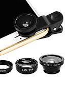 halpa Objektiivit ja tarvikkeet-Matkapuhelin Lens Kalansilmäobjektiivi ABS + PC 25 mm 180 ° Kotelolla / Tyylikäs