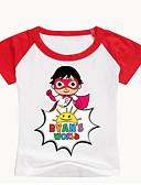 abordables Conjuntos de Ropa para Niño-Niños Bebé Chico Básico Estampado Estampado Manga Corta Algodón Licra Camiseta Negro
