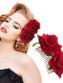 זול אביזרים-פלנל / סגסוגת מסרקים עם מסרק פרח / פרחוני חלק 1 חתונה / אירוע מיוחד כיסוי ראש
