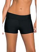 hesapli Bikiniler ve Mayolar-Kadın's Sportif Siyah Çocuk Bacak Altlar Mayolar - Solid S M L Siyah