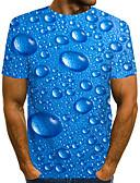 hesapli En Çok Satanlar-Erkek Tişört Desen, Solid / Yuvarlak Noktalı / 3D Sokak Şıklığı / Abartılı Havuz US40
