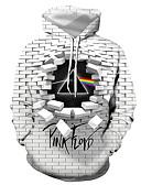 abordables T-shirts & Débardeurs Homme-Pull à Capuche & Sweat-shirt Homme, Géométrique / 3D / Graphique Imprimé Basique / Exagéré Gris US40