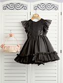 זול שמלות לילדות פרחים-נסיכה באורך  הברך שמלה לנערת הפרחים - סאטן / טול רצועות עם תכשיטים עם קשתות על ידי LAN TING BRIDE®