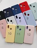 זול מגנים לטלפון-מגן עבור Xiaomi Xiaomi Mi Mix 3 / Xiaomi Mi 8 / Xiaomi Mi 8 SE מזוגג כיסוי אחורי אחיד רך TPU