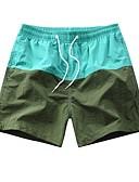 hesapli Erkek Pantolonları ve Şortları-Erkek Temel Şortlar Pantolon - Desen Siyah Açık Yeşil Açık Mavi XXL XXXL XXXXL