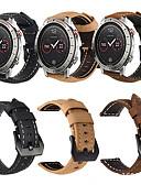 זול להקות Smartwatch-עור אמיתי רטרו wristband wristband רצועת רצועת היד לצפות הלהקה עבור