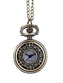 baratos Relógios Homem-Homens Relógio de Bolso Quartzo Marrom Relógio Casual Mostrador Grande Analógico Casual Fashion - Marron