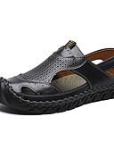 זול חליפות שני חלקים לנשים-בגדי ריקוד גברים נעלי נוחות עור קיץ יום יומי / בריטי סנדלים נושם שחור / חום