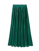 hesapli Kadın Etekleri-Kadın's Sokak Şıklığı Salıncak Etekler - Solid Büzgülü Yonca Fuşya Haki Tek Boyut / Salaş