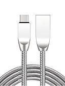 זול מטען כבלים ומתאמים-מיקרו USB כבל 1.0m (3ft) מהירות גבוהה / ציפוי זהב / תשלום מהיר סגסוגת אבץ מתאם כבל USB עבור סמסונג / Huawei / Xiaomi