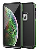 זול מגנים לאייפון-מגן עבור Apple iPhone XS / iPhone XS Max / iPhone X עמיד בזעזועים / עמיד לאבק כיסוי אחורי אחיד רך TPU