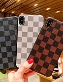 זול מגנים לאייפון-מגן עבור Apple iPhone XR / iPhone XS Max / iPhone X עמיד בזעזועים / תבנית כיסוי אחורי תבנית גאומטרית קשיח עור PU