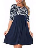 hesapli Kadın Deri ve Suni Deri Kabanlar-Kadın's Temel Kılıf Elbise - Geometrik Diz üstü