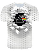 povoljno Muške majice i potkošulje-Majica s rukavima Muškarci - Ulični šik / pretjeran Klub / Plaža Color block / 3D / Grafika Print Obala US40