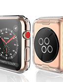 levne Pouzdro Smartwatch-transparentní tpu pro Apple hodinky série 3 2 1 38mm 42mm 360 plné průhledné ochranné pouzdro pro iwatch 4 44mm 40mm
