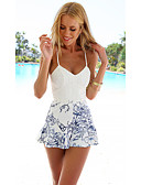 cheap Women's Dresses-Women's Bodycon Dress - Geometric Patchwork White M L XL