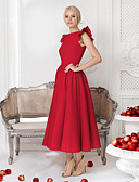 cheap Prom Dresses-A-Line Jewel Neck Ankle Length Jersey Cocktail Party Dress with by LAN TING Express