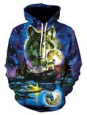 זול טרנינגים וקפוצ'ונים לגברים-עם קפוצ'ון 3D Jacket hoodie בסיסי בגדי ריקוד גברים