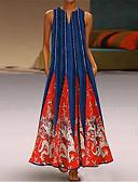 povoljno Maxi haljine-Žene Tunika Haljina V izrez Maxi