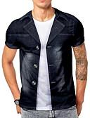 povoljno Muške majice i potkošulje-Veličina EU / SAD Majica s rukavima Muškarci - Osnovni Dnevno 3D Okrugli izrez Crn / Kratkih rukava