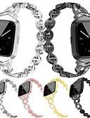 זול להקות Smartwatch-הלהקה לצפות עבור fitbit לעומת fitbit תכשיטים עיצוב נירוסטה רצועת היד רצועת מתכת מתכת מתכווננת סגסוגת החלפת wristband