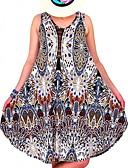 זול שמלות לתינוקות-צווארון U מידי פרחוני טלאים, גיאומטרי - שמלה נדן משוחרר בסיסי בגדי ריקוד נשים
