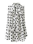 hesapli Bluz-Kadın's Gömlek Yuvarlak Noktalı Beyaz