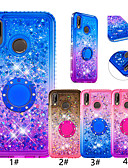 Недорогие Чехлы для телефонов-чехол для huawei huawei p smart (2019) / p20 облегченный блеск блеск / кольцо держатель задняя крышка цветной градиент мягкое тпу для huawei honor 7a / huawei p smart