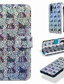 Недорогие Чехлы для телефонов-чехол для huawei huawei p smart (2019) / huawei p30 lite pattern / флип / с подставкой для кейсов для тела животного / блестящий блеск твердая кожа pu для huawei y6 (2018) / huawei y6 (2019) / huawei