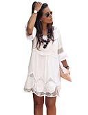 cheap Romantic Lace Dresses-Women's T Shirt Dress Lace White XXXXL XXXXXL XXXXXXL