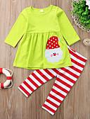 זול ילדים כובעים ומצחיות-סט של בגדים כותנה שרוול ארוך דפוס פעיל / בסיסי בנות ילדים / פעוטות