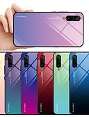 זול מגנים לטלפון-מגן עבור Xiaomi Xiaomi Mi 9 / Xiaomi Mi 9 SE עמיד לאבק / עמיד במים כיסוי אחורי צבע הדרגתי קשיח זכוכית משוריינת